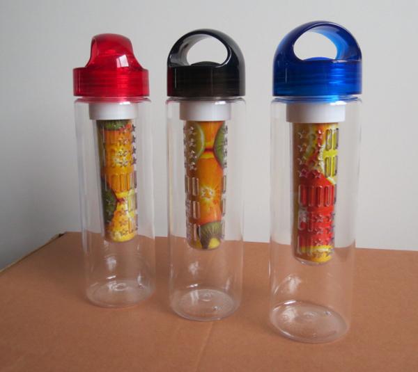 700ml tritan plastic fruit water bottle